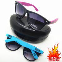 厂家推荐弹簧糖果色腿太阳镜 米粒蛤蟆眼镜 磨砂墨镜 稳定货源