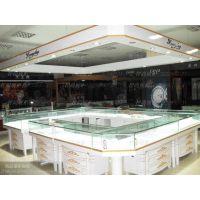 定制高档钟表店展柜精品木质烤漆展柜陈列柜 欧式玻璃多功能柜台