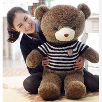 毛衣熊刺猬泰迪熊 可爱抱抱熊猫公仔大号毛绒玩具熊玩偶一件代发
