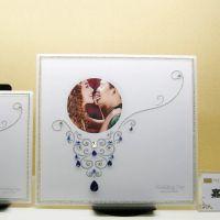 厂家直销 款亚克力影楼摆台 方形精美水晶婚纱写真相框摆台