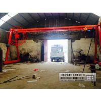 供应供应平阴县简易可移动式龙门吊1吨2t3吨轻小型行吊电动单梁行车万向轮航吊室内多少钱