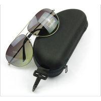 供应批发EVA拉链 太阳镜眼镜盒 字母图案 眼睛盒