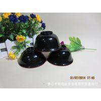 密胺餐具仿瓷红黑小碗 小饭碗  反口小碗 塑料碗 餐馆专用