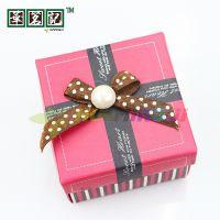 批发婚庆结婚用品纸盒喜糖盒子婚礼糖果盒方形精美礼盒 红色
