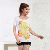 2014夏季 新款韩版 短袖打底 印花短袖T恤 女装 打底衫 衣服 服装