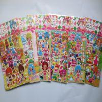 厂家批发YFU系列女孩公主换装贴纸  儿童贴纸卡通韩国换装贴画