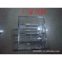 办公文具批发 三格透明名片盒 有机玻璃名片座 可印字