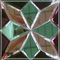 家装背景墙 艺术玻璃菱形六边形拼镜 可量身定做 价格实惠