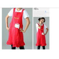 雅超 韩版围裙 可爱 韩国 公主 幼儿园老师工作服 美甲广告围裙