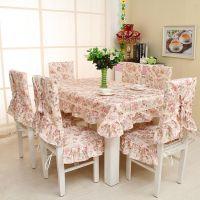 厂家直销 田园时尚餐椅垫 花开月色餐椅套 桌布台布.