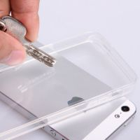 iPhone5手机壳 亚克力带防尘塞透明手机壳 苹果5亚克力透明防刮壳