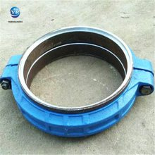 DN350PN1.6钢制柔性管接头,胶垫卡箍接头,河北沟槽管件厂家