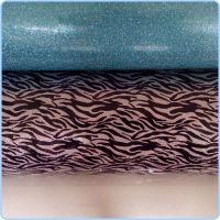 供应新型环保pvc皮革 印花斑马纹pvc装饰皮革 软包pvc皮革