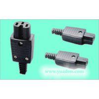 10A电源插头 公插 品字插头 电动车插头 铜插头A  C14