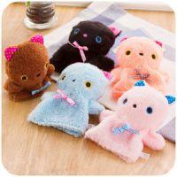 可爱猫咪迷你暖手宝 便携充水式小热水袋 可拆洗毛绒暖手袋