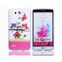 LG G3 mini 闪粉手机壳 G3迷你猫头鹰TPU彩绘闪粉手机套