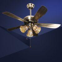 福到家厂家批发 欧式复古LED风扇灯卧室吊灯客厅书房餐厅灯饰灯具