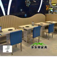 海底捞火锅桌 天然大理石餐桌