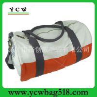 广东手袋厂家 帆布旅行包 米白色行李包 旅行行李袋 手提运动包
