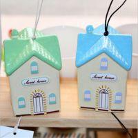 韩国文具  青壹坊 温馨小屋陶瓷风铃 创意挂件 TR-E126038