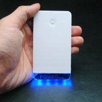 超薄水晶移动电源 水晶发光移动电源可内雕logo 手机充电宝批发