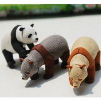 一正1406儿童组合橡皮擦 可爱韩版创意大熊/熊猫造型橡皮