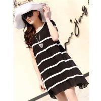 夏季新款韩版时尚明星款雪纺裙大码气质宽松娃娃裙大码连衣裙