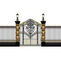 别墅ktv酒店欧式铁艺大门 软装饰品 阳台装饰护栏杆 厂家订做