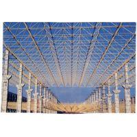供应镀膜玻璃生产线项目工段厂房钢结构网架设计施工特价