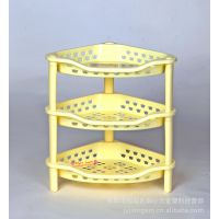收纳架 塑料架 塑料置物架 三层角型组合架 开放式层架 杂物架