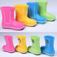 韩国EVA时尚可爱雨鞋小孩儿童雨鞋水鞋雨靴男女童雨鞋卡通雨鞋