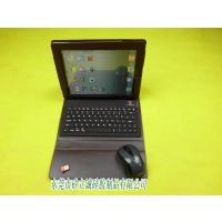供应定制各国语言可添加Logo大气棕色ipad3皮套键盘