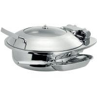 韩国TIGER正品 不锈钢自助餐炉布菲炉 智能圆形 自助餐炉 玻璃盖15303