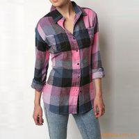 (全棉防皱免烫面料)北京衬衫 女款衬衫定做 翔龙马衬衫厂
