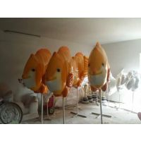 海洋王国仿真动物玻璃钢鱼树脂雕塑