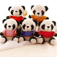批发供应 国宝大熊猫毛绒玩具 唐装情侣熊猫公仔娃娃穿衣仿真熊猫