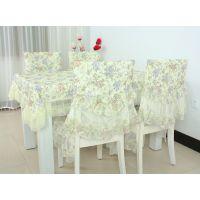 批发 银线提花 桌椅套装 桌布 餐椅垫 椅子垫 大量批发