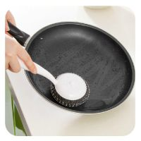 日式居家带手柄清洁锅刷 长柄去渍去污钢丝刷 多功能刷锅神器