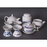 供应青花茶具,logo茶具,鑫腾陶瓷
