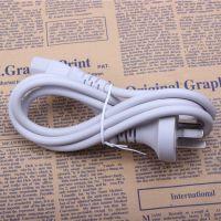 供应白色线 电脑主机显示器电源线品口三孔 1.5米铜芯直插 电饭锅线