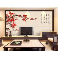 背景墙品牌 彩虹石 卧室背景墙装修效果图 装修电视墙效果图-寒梅傲雪