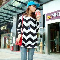 2014女装秋装羊绒大版T恤韩版休闲长袖打底衫
