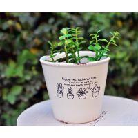 花园工具ZAKKA仿搪瓷圆形花盆 复古做旧风格   多肉植物 经典热销