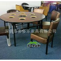 欧式餐桌椅咖啡厅桌椅火锅店火锅桌椅 厂家定做 推荐爆款