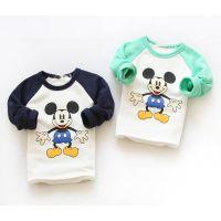 韩版女童米老鼠打底衫秋冬新款儿童暖倍儿加厚t恤打底衫 外贸童装