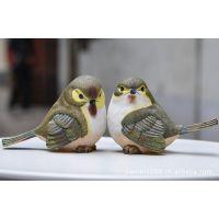 外贸原单复古装饰 仿真鸟摆件 欧洲乡村风格装饰品 花园艺装饰鸟