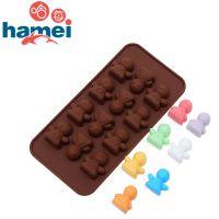 哈每 硅胶模具 表情娃娃小女生天使 巧克力冰块手工皂模具
