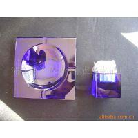 供应蓝色水晶烟灰缸套装、水晶烟缸套装等广告礼品