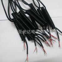 生产加工各式彩色、透明弹簧线、高弹力PVC弹弓线、抗拉力伸缩线