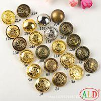 厂家直销塑料电镀环保金色青铜色复古纽扣 大衣钮扣 装饰扣